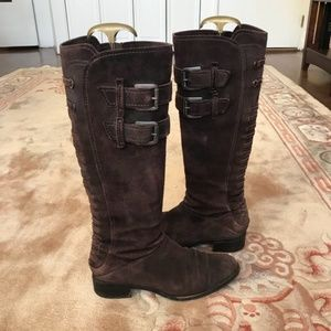 Apepazza distressed suede riding boots